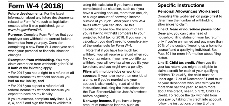 update: irs issues new form w-4 + updated withholding calculator