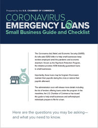 An image of a Coronavirus Emergency Loans Small Business Guide and Checklist