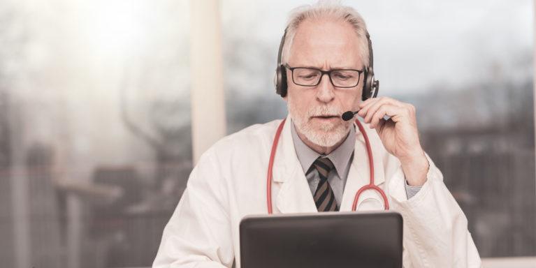 doctor on virtual medical visit