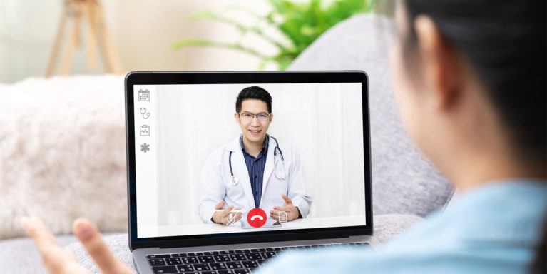 Telemedicine services allows you to visit with your doctor on your computer or mobile device